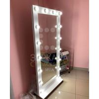 Гримерное зеркало с подсветкой на подставке 180х80 Белый